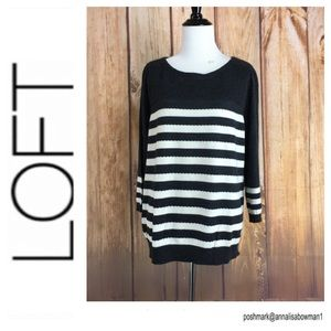 💸Ann Taylor Loft striped pullover sweater size XL